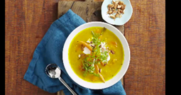 Pumpkin, carrot, lentil & ginger soup feature image