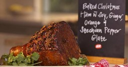 Baked Christmas ham with soy, ginger, orange and Szechuan pepper glaze feature image
